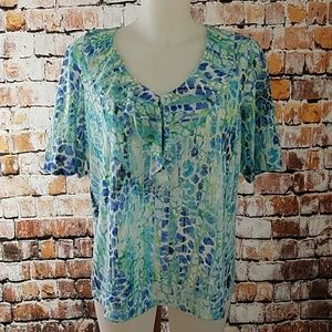 🌻 Chico's Size 2 Blouse Shirt Top
